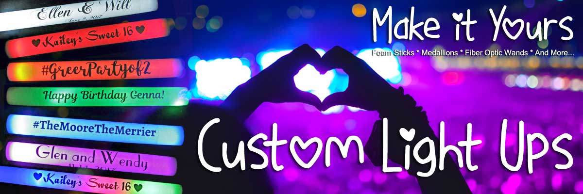 We Customize Your Glow Products