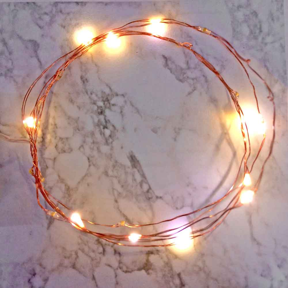 6 ft Fairy Wire, 20 Warm White LEDs, Power Option: AA Battery Pack. Twinkle Light Function Firefly Mason Jar, String Light with Timer, Copper wire string light, dew drop LEDs, Silver Wire string lights, gold wire string lights, wedding, centerpiece, center piece, decoration, decor, christmas, tree, wreath, flower, costume