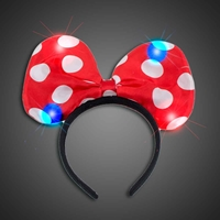 Lighted Polka Dot Headbow