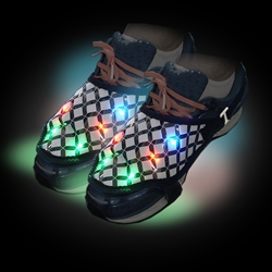 Pressure-Sensitive Shoe Lights shoe lite ups, shoe light ups, light up shoes, lighted shoes, flashing shoes, light up feet, LED shoe lights, dance, cheer, rave, festival, edm, edc, electronic, dj, boys