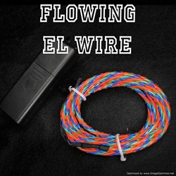Chasing EL Wire - Multi-color Fat Flow EL Wire Fat Flow EL Wire, Multicolor EL Wire, Flowing EL Wire, Motion EL Wire, Chasing EL Wire, Flowing Electroluminescent Wire, Motion Electroluminescent Wire, Chasing EL Wire
