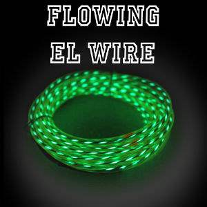 Chasing EL Wire - One-color Fat Flow EL Wire Fat Flow EL Wire, Multicolor EL Wire, Flowing EL Wire, Motion EL Wire, Chasing EL Wire, Flowing Electroluminescent Wire, Motion Electroluminescent Wire, Chasing EL Wire