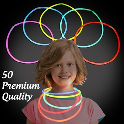 Solid Color Glow Necklaces - Pack of 50 solid color glow necklaces, vending, birthday party, wedding, pta, school fundraiser, glow necklaces, chemical glow necklaces, solid color glow necklaces, one-color glow necklaces, wholesale glow necklaces