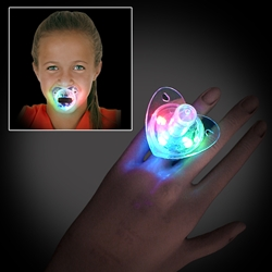 Light Up Pacifier Ring