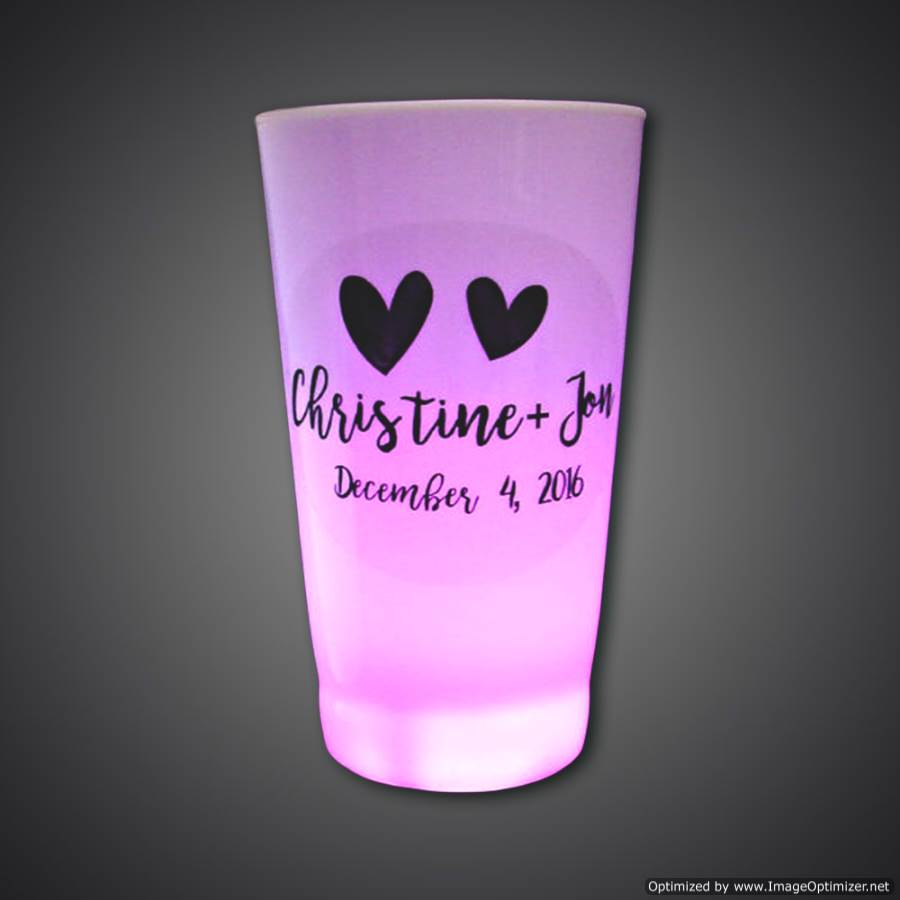 Customized 16-oz Lighted Glass  - CUSTOMCPL