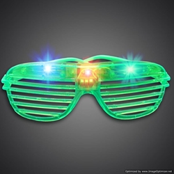 Party Sunglasses green, blue, red, purple, cheap, inexpensive, give aways, kids, party, lighted sunglasses, light up sunglasses, shutter shades, flashing sunglasses, rock star sunglasses, kanye glasses