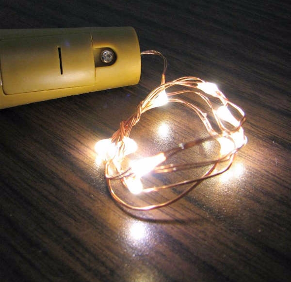 "Fairy Lights for Wine Bottles - 20"" Wire, 10 LEDs per strand"