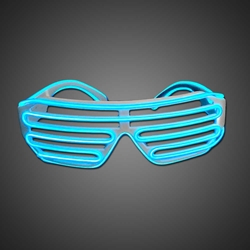 EL Wire Shutter Shades EL wire sunglasses, lighted sunglasses, light up sunglasses, LED sunglasses, wrap-around lighted sunglasses, wrap-around shades, men, boys, vend, july 4th, party, dance, rave, EDM, Burning Man