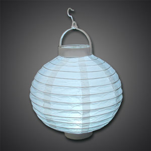 8-Inch Paper Lantern with Light (CLOSE OUT) paper lantern, 20 cm paper lantern, paper lantern with light, battery operated paper lantern