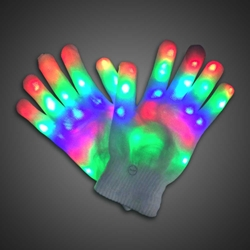 Rainbow Sparkling Lighted Glove (BACKORDERED Ships 6/5) Lighted Gloves, LED Gloves, Flashing Gloves, Lighted Mitts, LED Mitts, Flashing Mitts, Light Up Gloves, Rave Gloves