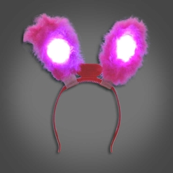 Lighted Rabbit Ears lighted rabbit ears, light up rabbit ears, easter, bunny, edm, edc, cosplay, costume, rave, festival, burning man