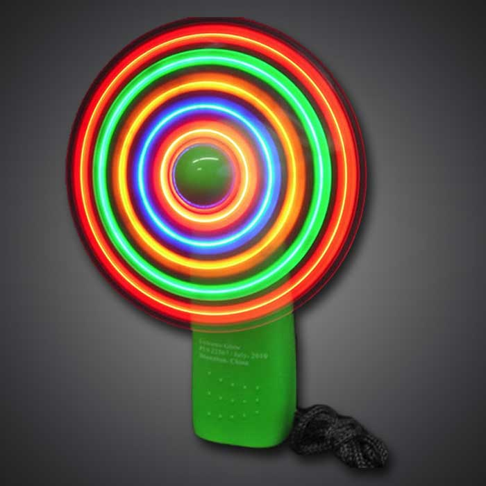 LED Mini-Fan LED Fan, Lighted Fan, Light Up Fan, july 4th, vend, festival, rave, edc, edm, burning man, kids, toys, summer