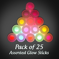 "Assorted Glow Sticks (Pack of 25) party pack, glowstick, glowsticks, glow stick, glow sticks, lightsticks, light sticks, lightstick, light stick, 6-inch glowstick, 6"" glowstick"