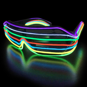 Rainbow-Style EL Wire Sunglasses